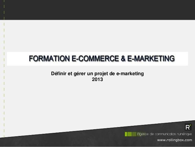 Définir et gérer un projet de e-marketing 2013