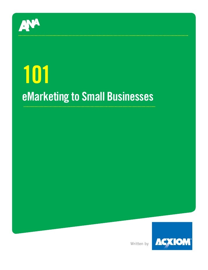 101 eMarketing to Small Businesses                             Written by