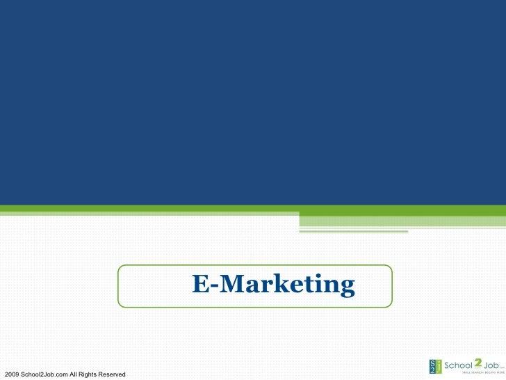 Emarketing Basics Presentation