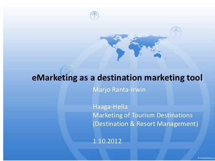 E marketing for destinations