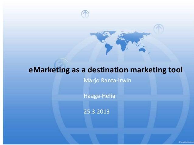 Digital marketing for destinations porvoo 25.3.13