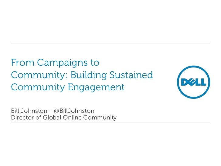 From Campaigns to Community: Building Sustained Community Engagement