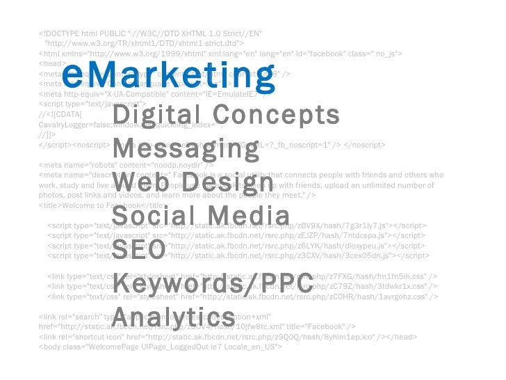 E marketing webdesign  seo socialmedia