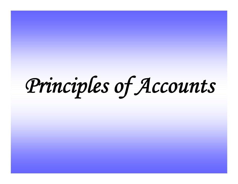 Principles of Accounts (7110)