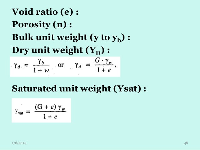 Embankment lecture 1 for Soil unit weight
