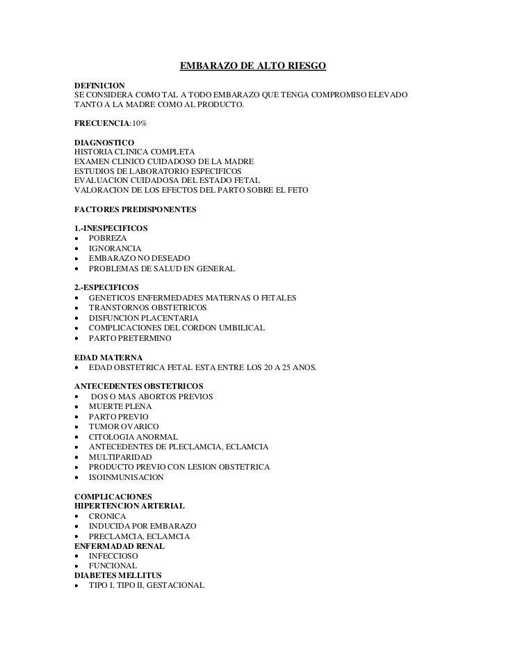 EMBARAZO DE ALTO RIESGO<br />DEFINICION<br />SE CONSIDERA COMO TAL A TODO EMBARAZO QUE TENGA COMPROMISO ELEVADO TANTO A LA...