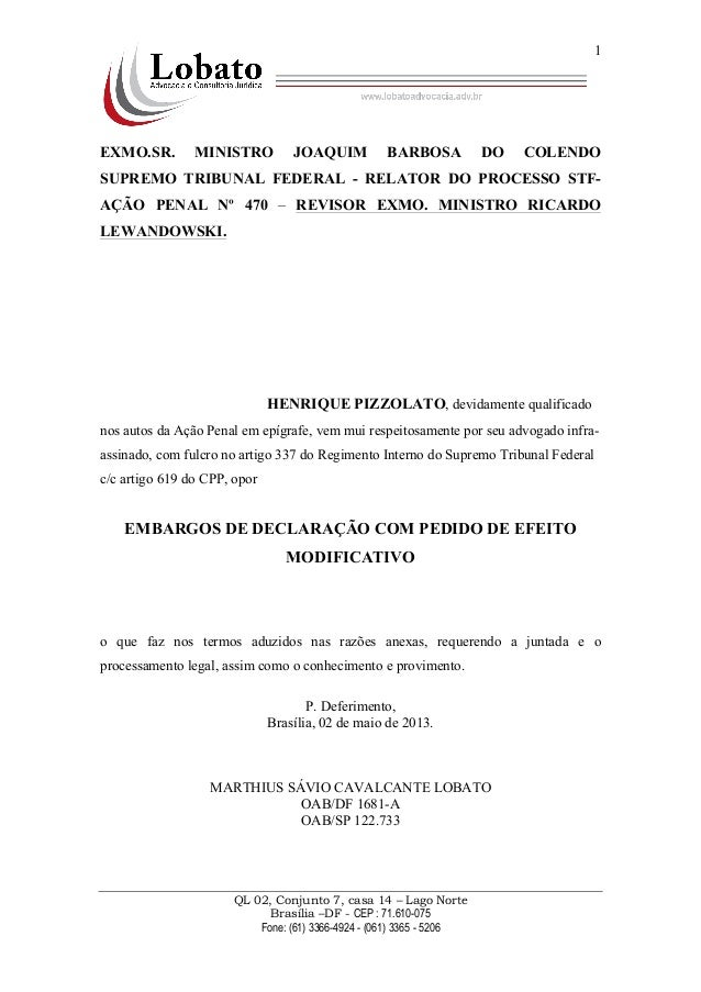 QL 02, Conjunto 7, casa 14 – Lago NorteBrasília –DF - CEP : 71.610-075Fone: (61) 3366-4924 - (061) 3365 - 52061EXMO.SR. MI...