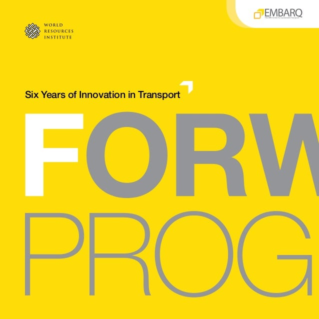 Six Years of Innovation in Transport