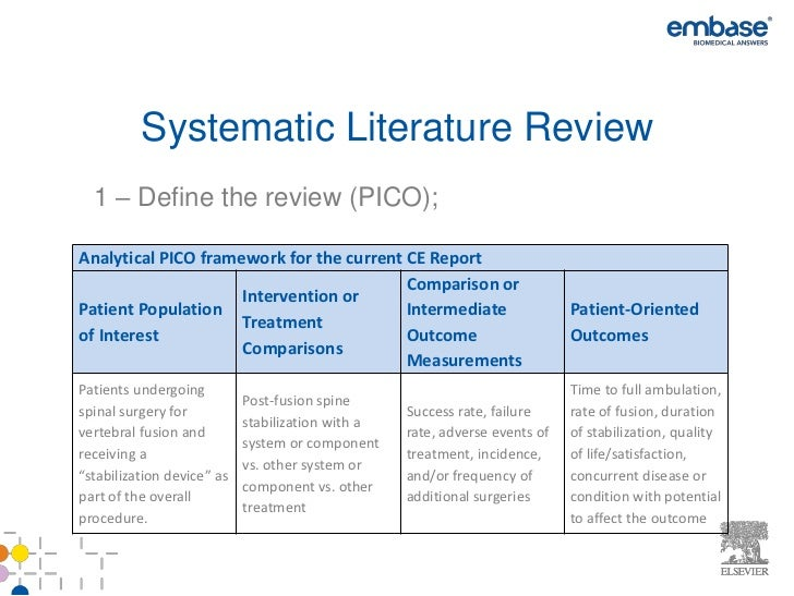 systematic literature review guidelines Guidelines for writing a review article a) constructive analysis of the literature in a specific field through summary • systematic review.