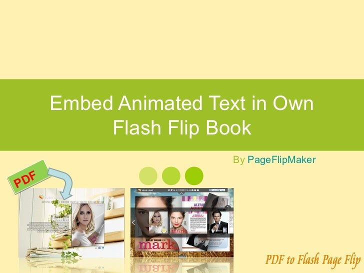 Embed Animated Text in Own Flash Flip Book
