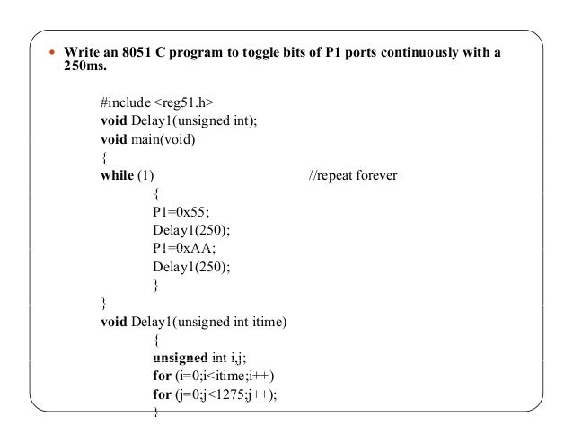 Embedded c programming based on 8051 microcontroller Execute c code