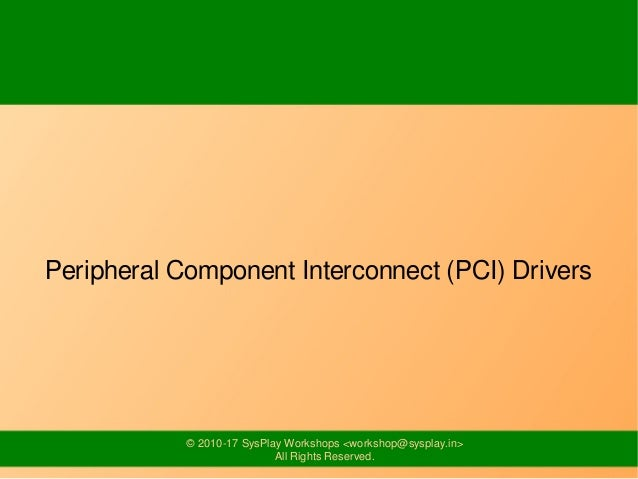 Embedded Device Bus Drivers