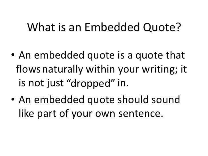 embedding quotes in an essay