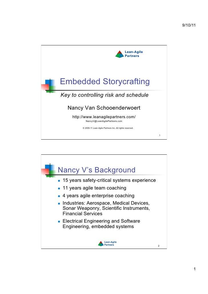 Embedded storycrafting