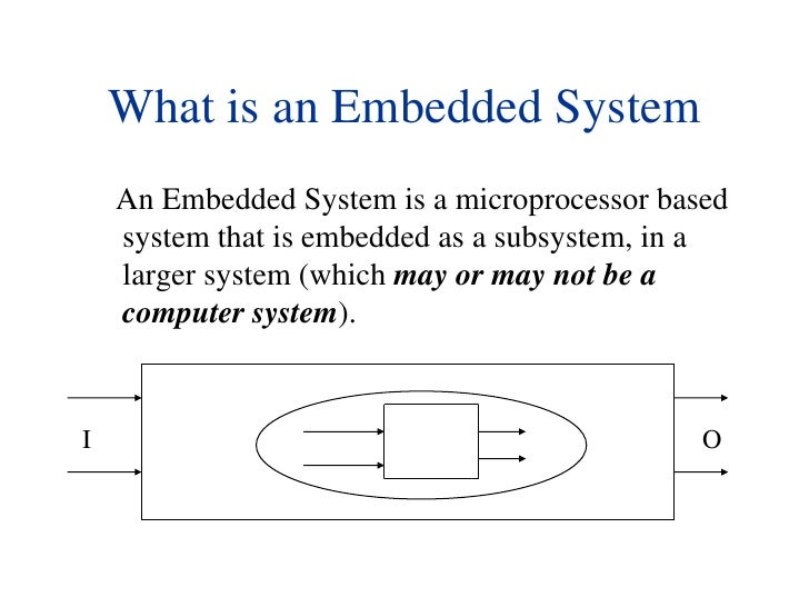 What is an Embedded System<br />      An Embedded System is a microprocessor based system that is embedded as a subsystem,...