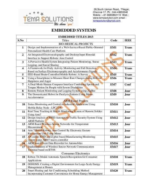 2013 - 2014 IEEE TITLES IN EMBEDDED SYSTEMS