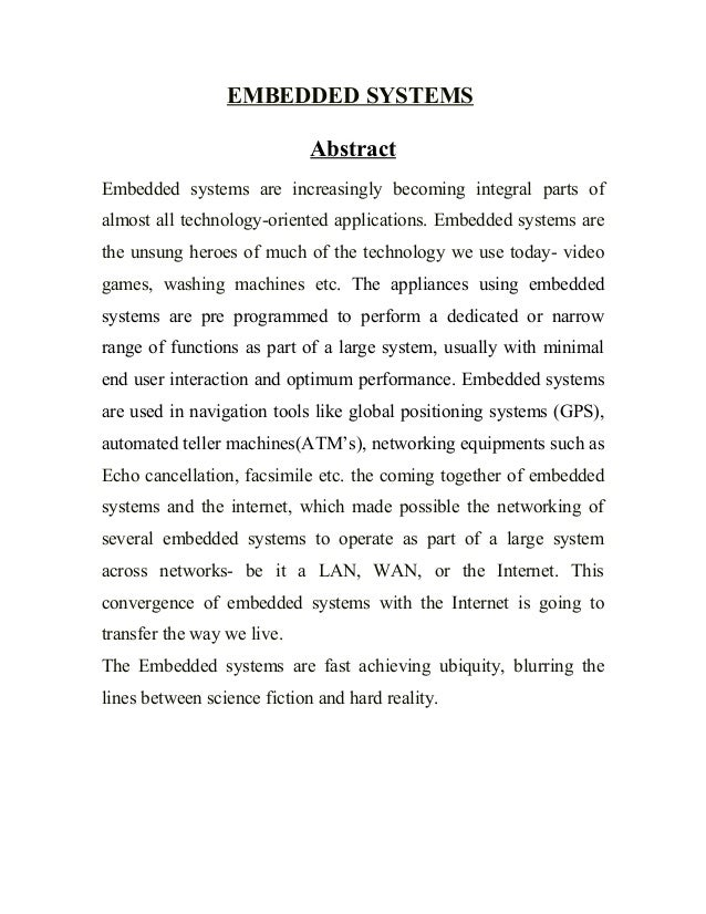 Report file on Embedded systems