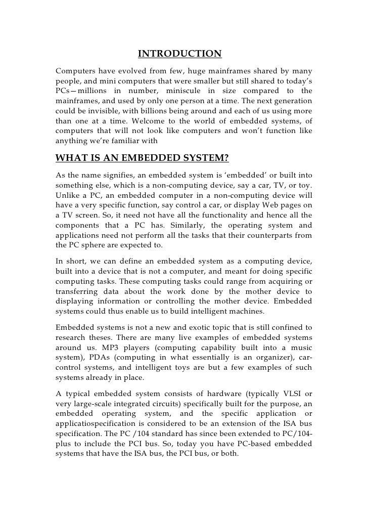 Embedded systemsandvlsi