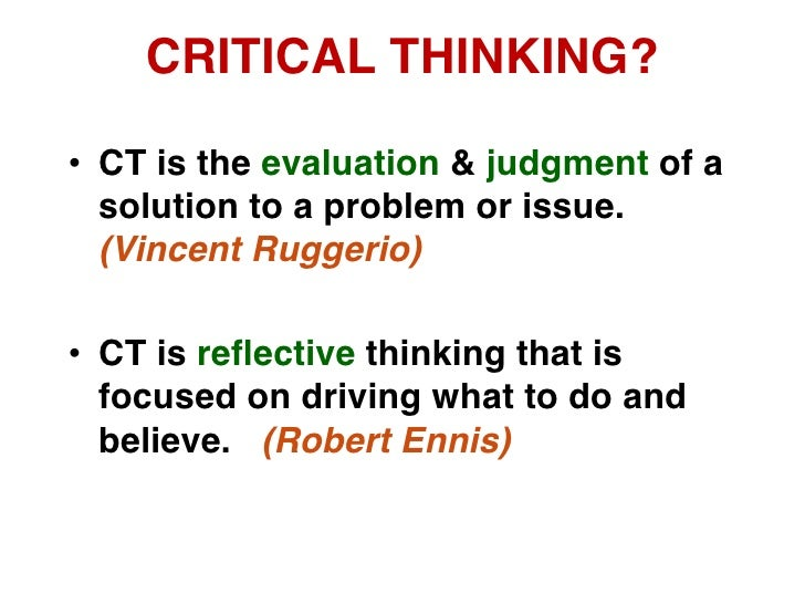 Critical thinking in teaching