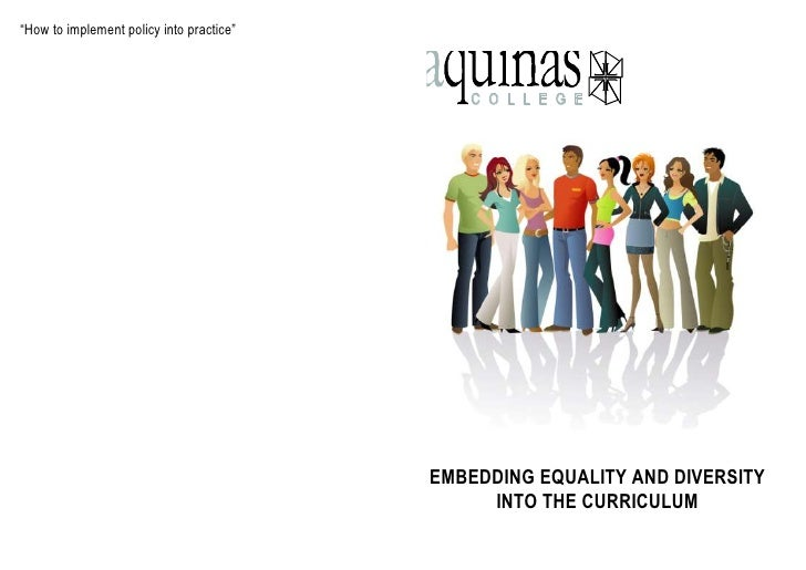 Embedding equality and diversity into the curriuculum
