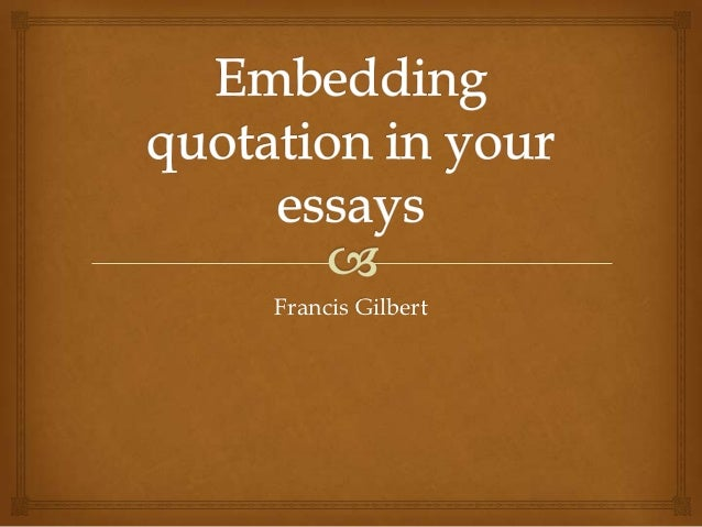 embedding a quote in an essay