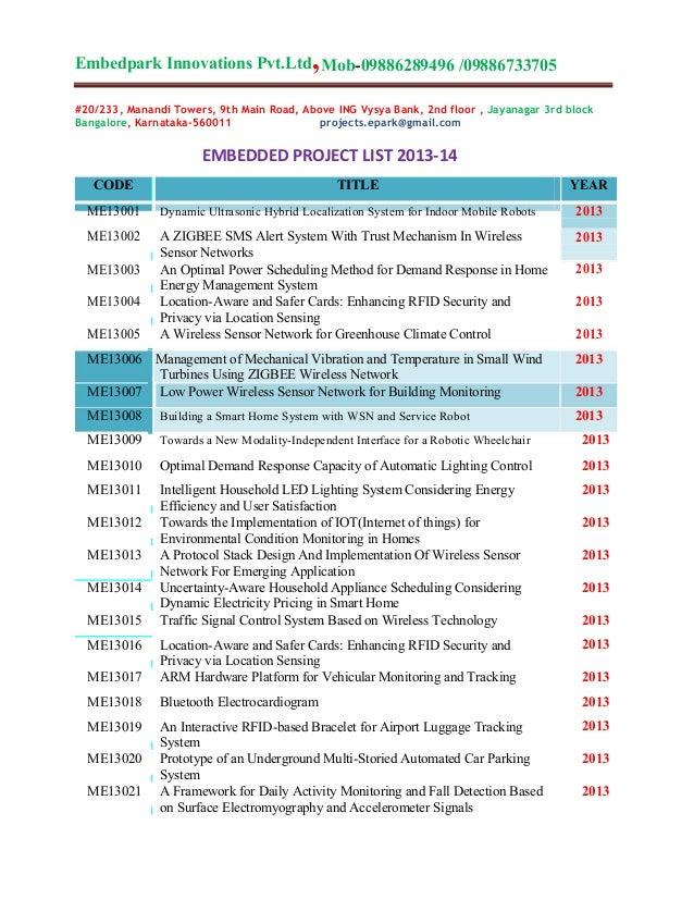 ,  Embedpark Innovations Pvt.Ltd Mob-09886289496 /09886733705 #20/233, Manandi Towers, 9th Main Road, Above ING Vysya Bank...
