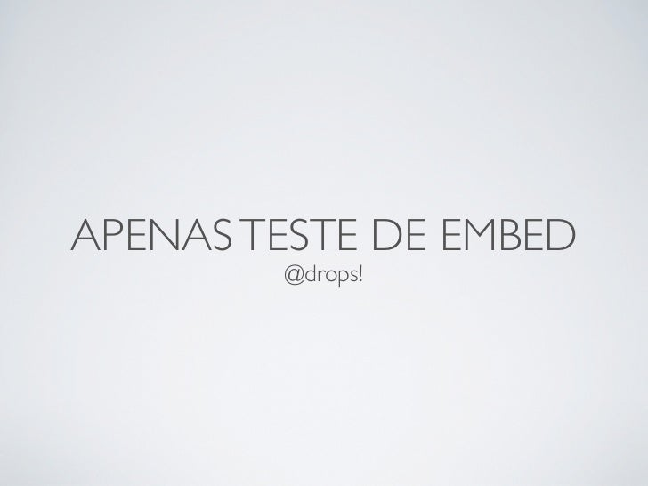 Embed test