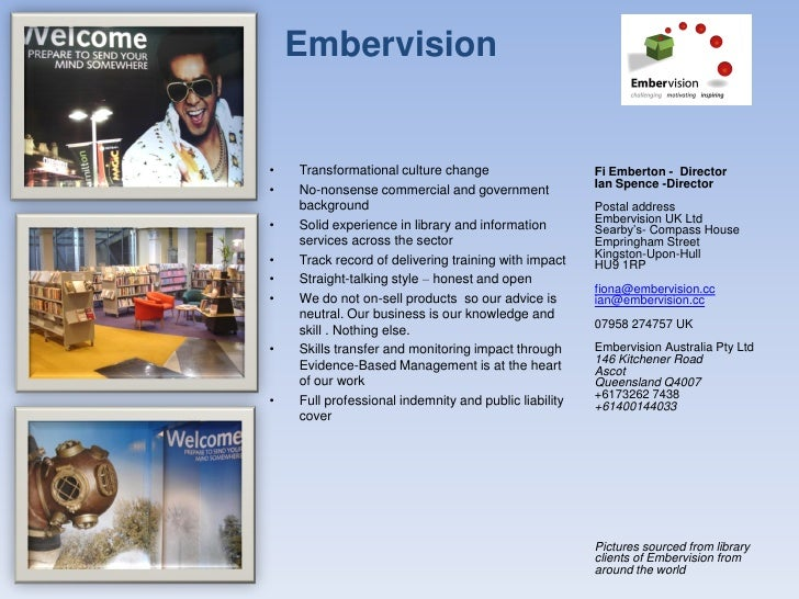 Embervision   •   Transformational culture change                    Fi Emberton - Director                               ...