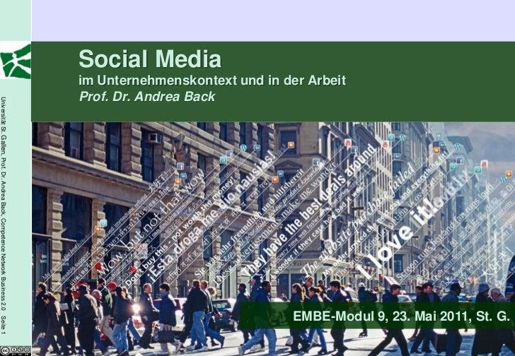 Social Media im Unternehmen und in der Arbeit