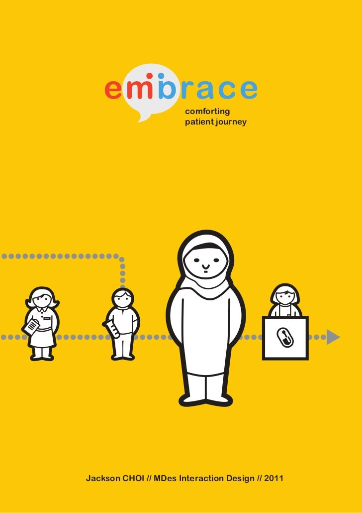 embrace            comforting                       patient journeyJackson CHOI // MDes Interaction Design // 2011        ...