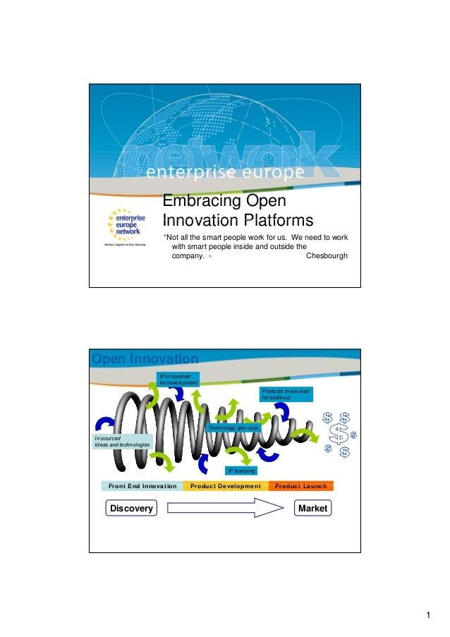 Embracing Open Innovation Platforms - Enterprise Europe Network (7 Dec 2012)