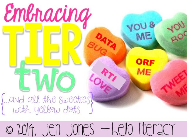 Embracing  TiEr two  {  }  ...and all the sweeties with yellow dots  ^ 2014, Jen jones -Hello literacy