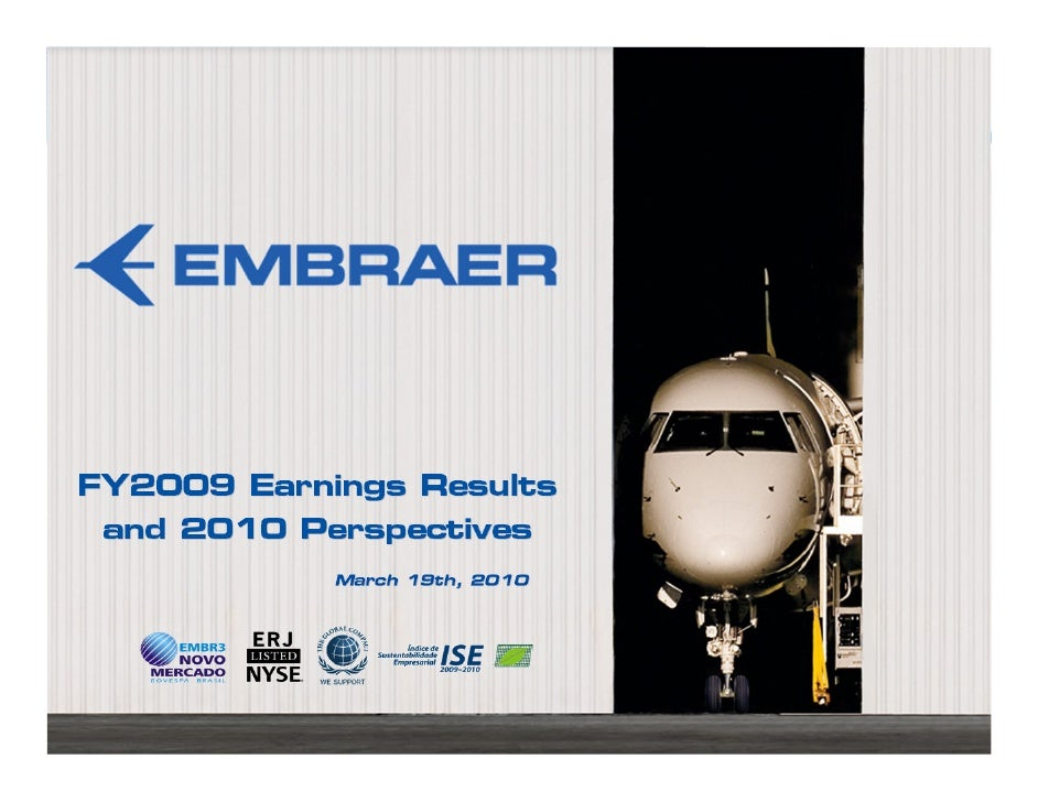 Embraer 4Q09 Results