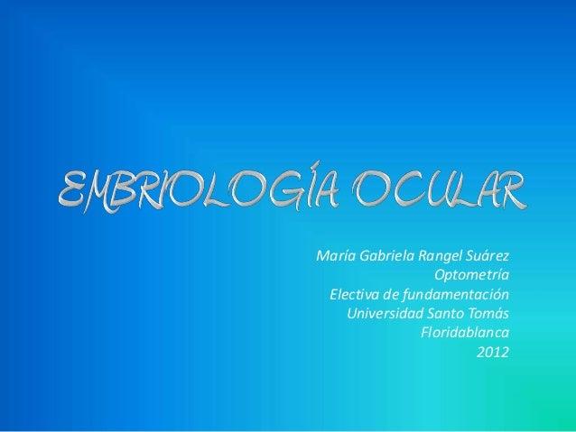 Embriología ocular