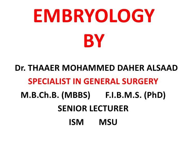 Embryology   cardiovascular system (heart development)