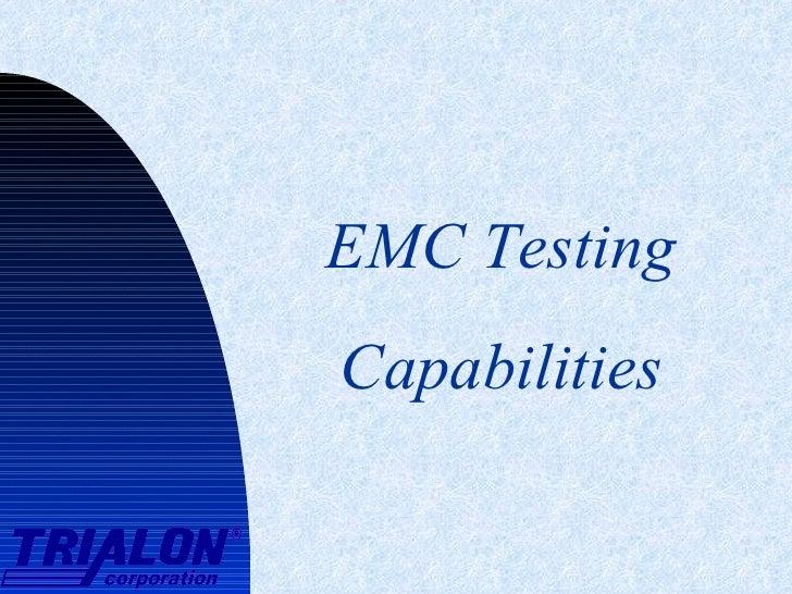 EMC Testing Capabilities