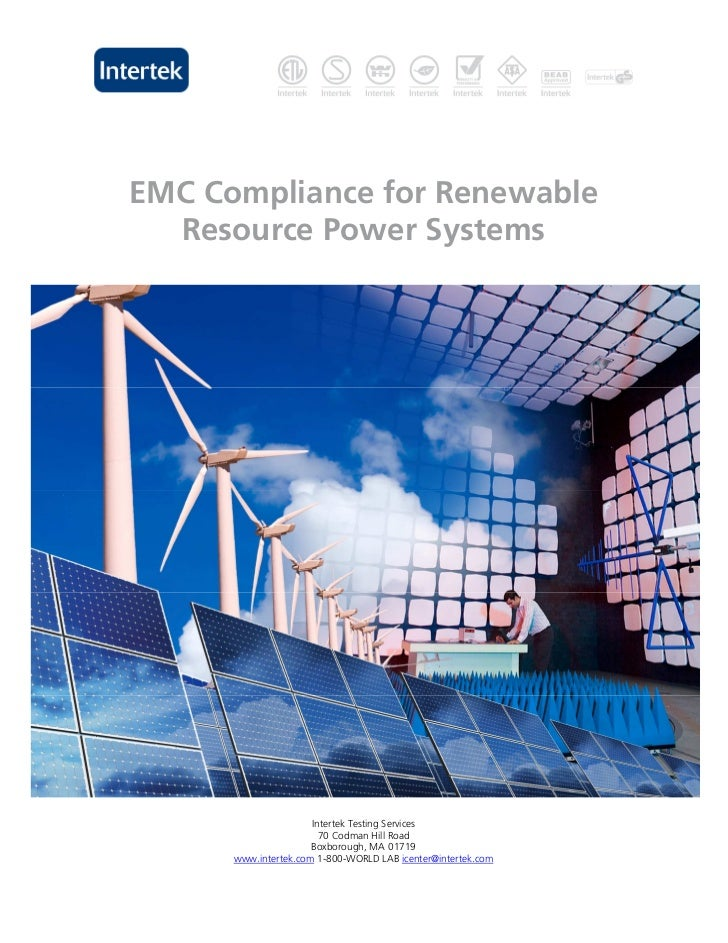 EMC Compliance for Renewable  Resource Power Systems                      Intertek Testing Services                       ...