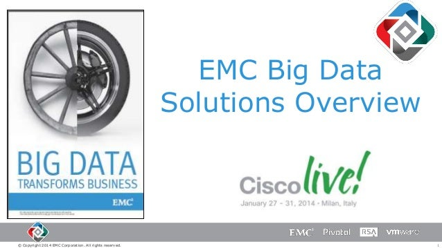 EMC Big Data Solutions Overview