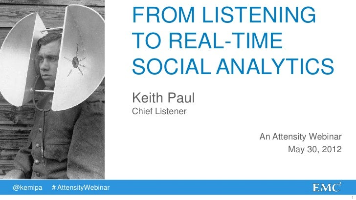 FROM LISTENING                               TO REAL-TIME                               SOCIAL ANALYTICS                  ...