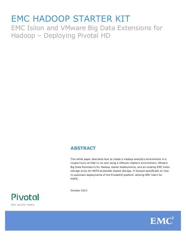 EMC Hadoop Starter Kit