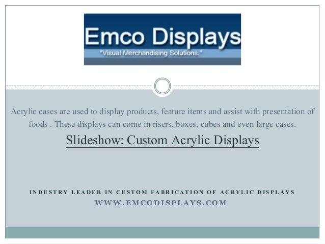 Custom Acrylic Displays & Cases