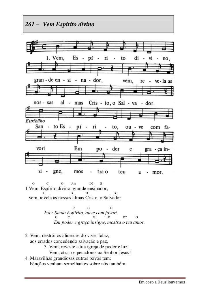 Em coro a deus louvemos 261 280