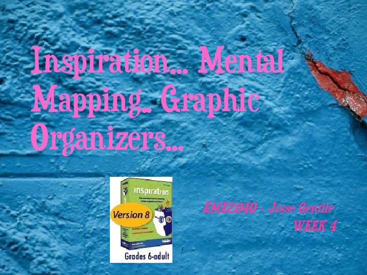 Inspiration… Mental Mapping.. Graphic Organizers… EME2040 – Jesse Gentile  WEEK 4