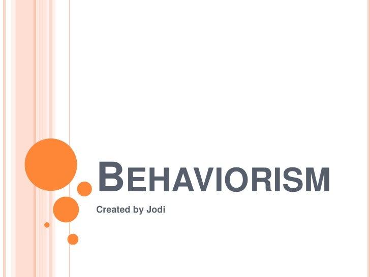 Eme2040 behaviorism