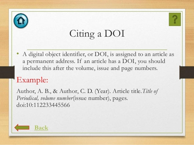 Apa reference with doi