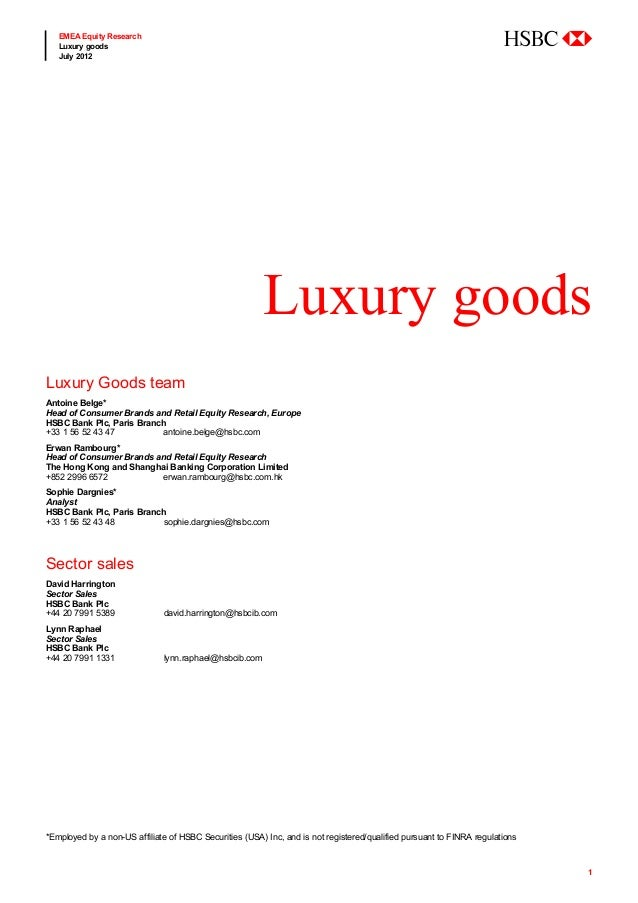 EMEA Equity Research   Luxury goods                                                                                       ...