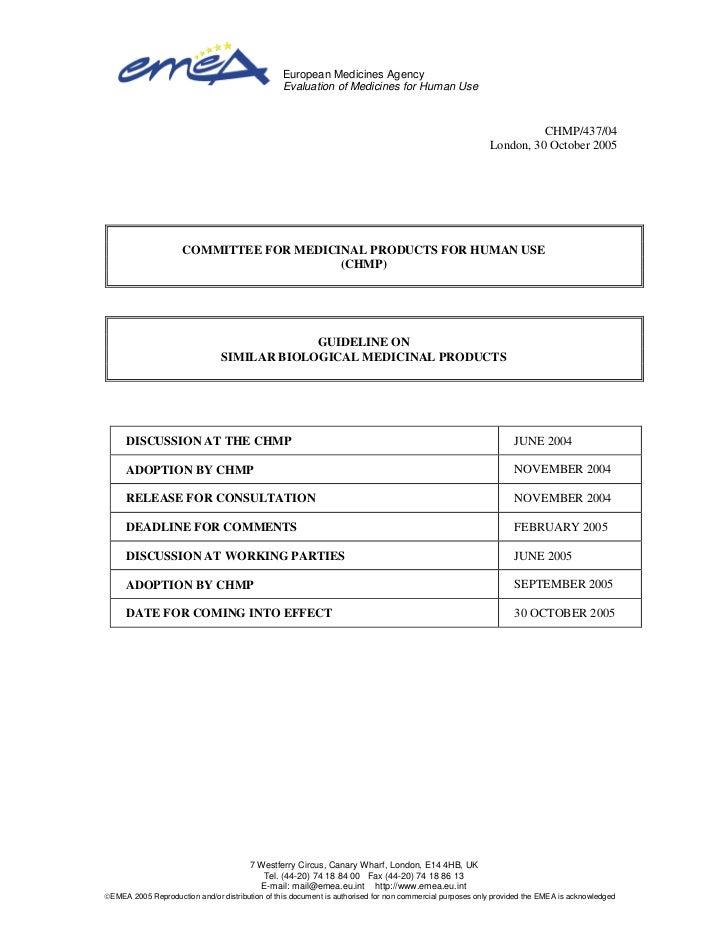 Emea guidelines