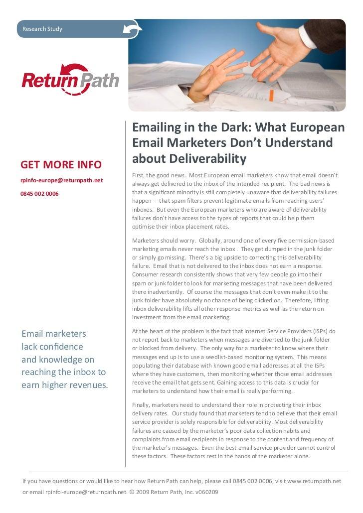 Email Emea study 2009