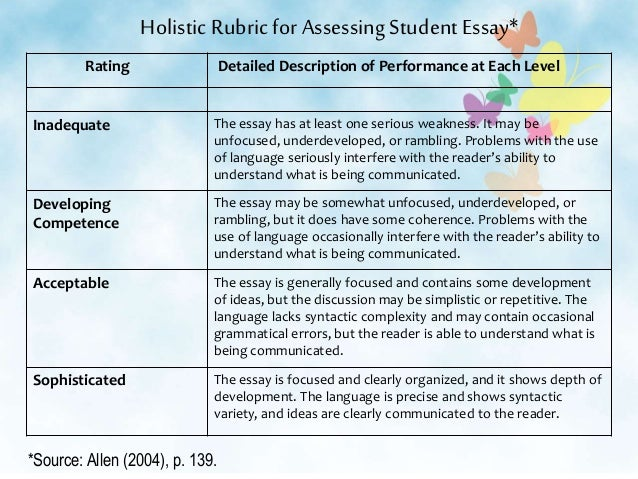 rubric for art essays
