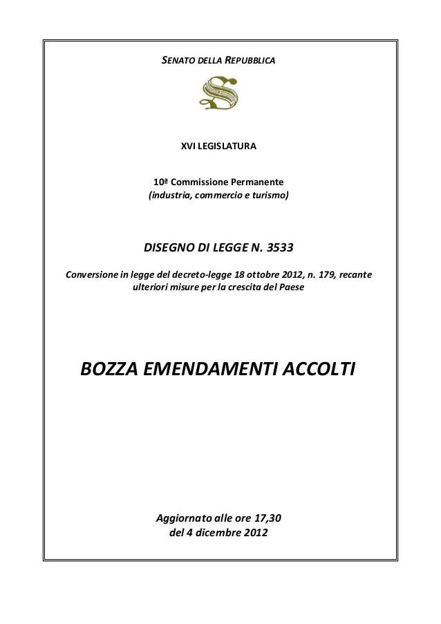 SENATO DELLA REPUBBLICA                          XVI LEGISLATURA                     10ª Commissione Permanente           ...
